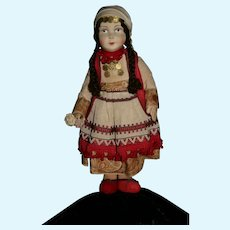 """13"""" mask face Dowry Doll"""