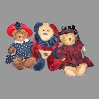 Trio plush Boyd's Bears