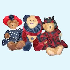Trio plush Boyd's Bears