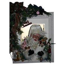 OOAK Artist Santa lighted Holiday Scene