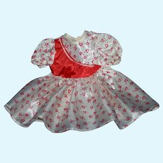 Large Valentines Heart doll dress 1950's