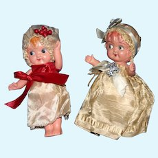 "A Pair of cute 5"" flirty celluloid dolls 1920-30's"