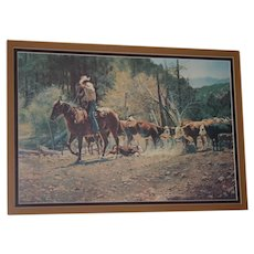 "Wonderful  LG Western LE print  ""No help from Mom!""  Tim Cox 1978"