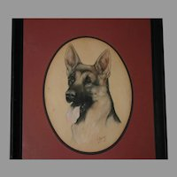 Original Dog German Shepherd Portrait Artist Jo Saylors