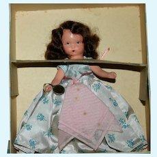 NASB 1930-40's bisque Wednesday's Child original box tag