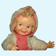 1950's Ideal 3 faced plush baby