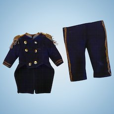 Antique 2 Piece Navy Blue Wool Suit - Naval Uniform