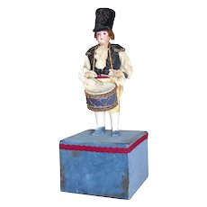 Antique Soldier Boy Drummer with German Bisque Doll