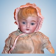 Vintage Small Baby Bonnet in Pink