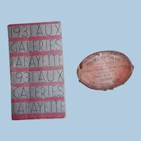 1931 Calendar from Gallerie Lafayette and French Label from Powder Box