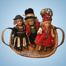 3 German Factory Bisque Dolls