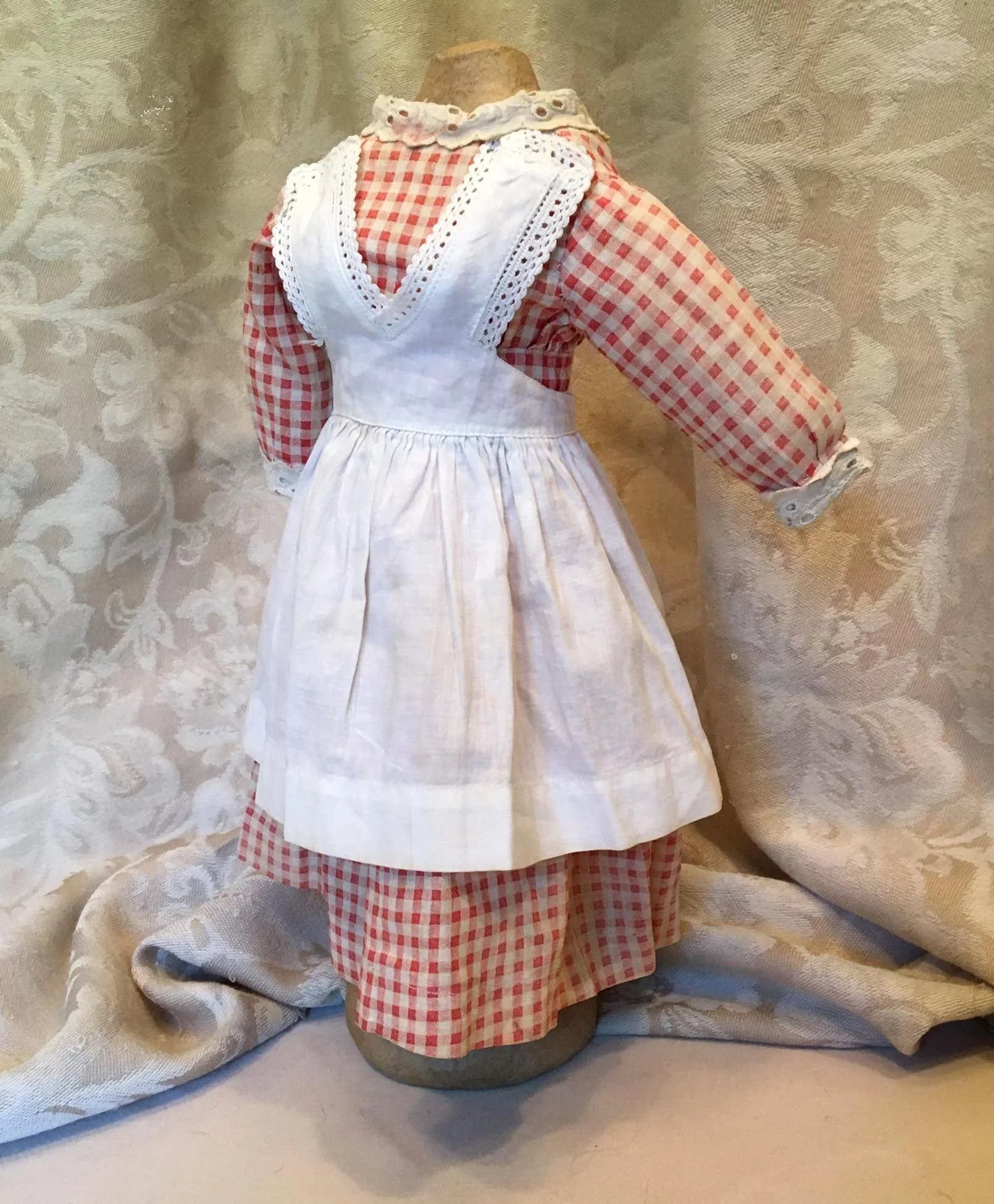 2c5e1070bb4e Red gingham dress with white apron antique : Susan's Antiques | Ruby ...