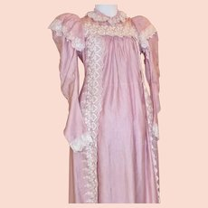 777c285c65128 Rare 1940s Spun Rayon Maternity Dress Heart Print Size Extra Large ...