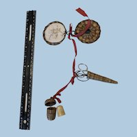 Antique Woven Grass Sewing. Kit