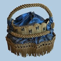 Antique French Doll's Straw Basket