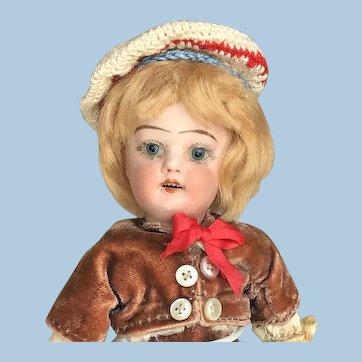 7 inch German Boy Bisque Dolly