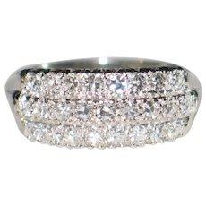 Vintage Diamond and 14k White Gold Ring.