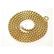 18k Yellow Gold, Vintage ITALIAN Gold Chain.
