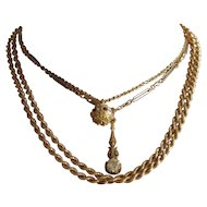 """Italian Rope Chain, Vintage 18k yellow gold rope chain.  35.25"""" inches long."""