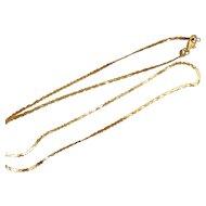 "Italian gold chain.  Vintage 14k Yellow Gold Chain 21"" long."