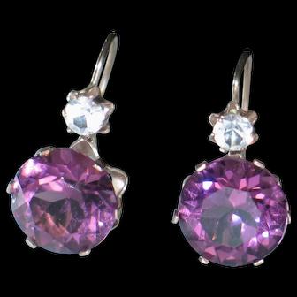 Antique Georgian Amethyst paste earrings.....20%-50% OFF sale
