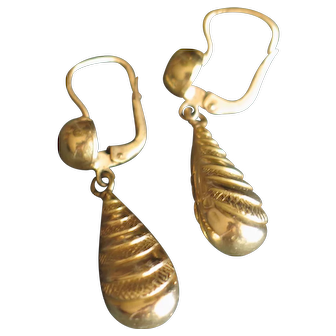 Sexy and classy antique dropped earrings in 18k gold (750) *50% OFF sale on most items*