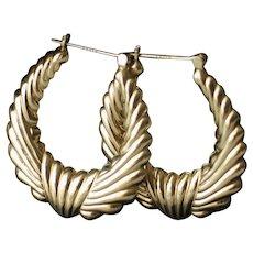Vintage 14k gold hoop earrings.