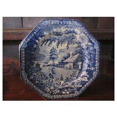 Staffordshire Transferware Plate: Brameld, 'Returning Woodman