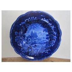 Adams Dark Blue Staffordshire Transferware Soup