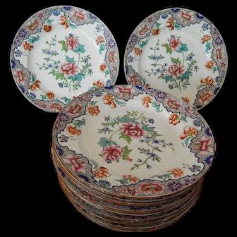10 SPODE Staffordshire Transferware antique Plates #3184 +2 C.1828