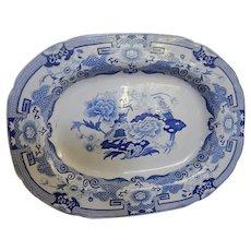 Antique Staffordshire Transferware  Transfer Platter or Tray- C.1815- Masons Ironstone- 'Blue Pheasant'