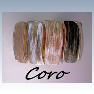 Coro Signed Expansion Bracelet in Gold tone