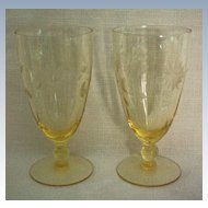 Lancaster Jubilee Depression Ice Tea Glass or Water Goblet