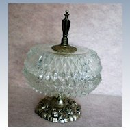 Crystal Coffee Table Covered Candy / Vanity Dish