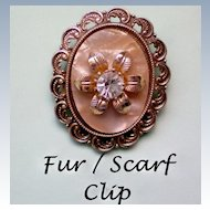 Scarf or Fur Clip marked Germany