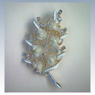 Celluloid Rose Cluster Pin