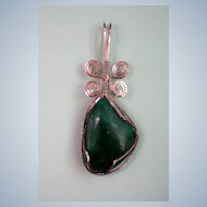 Malachite Sterling Wire Wrapped Pendant