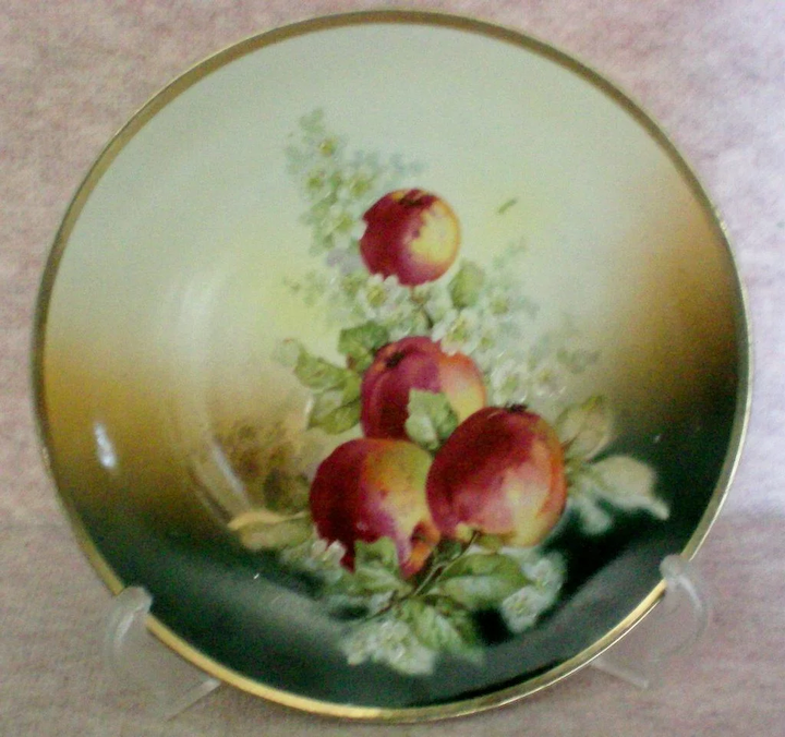 Hand Painted Three Crown China Plate from Germany