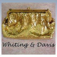 Whiting & Davis Gold Mesh Bag / Purse