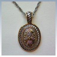 Gold & Silver tone Metal Pendant by Roman