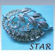 STAR Foil Backed Rhinestone Pin