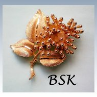BSK Golden Flower Brooch