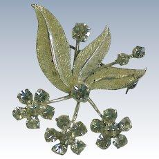 Silver Austrian Crystal Bouquet Brooch