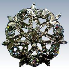 Pot Metal Rhinestone Brooch / Pendant