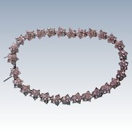 Art Deco Paste Pot Metal Rhinestone Choker Necklace
