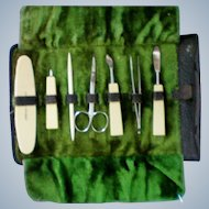 Manicure Set in Original Leather Pouch