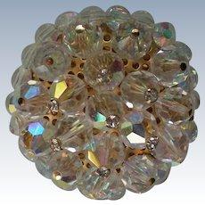 Crystal Ball with Rhinestone Brooch