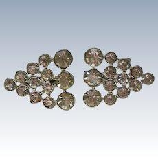 Identical Triangular Rhinestone Scatter Pins