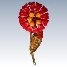 Metal Flower Pin