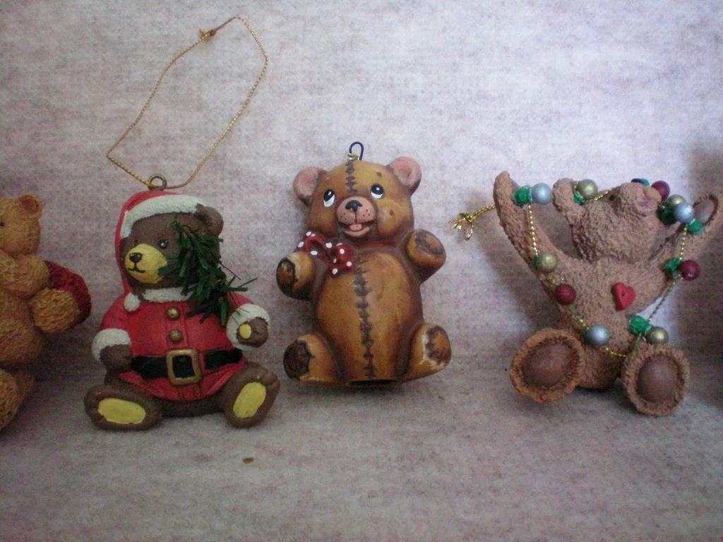 Ceramic Bears Christmas Tree Ornaments : The Manor's